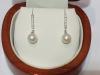 Orecchini in oro18kt con perle e diamanti