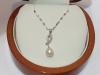 Girocollino con pendente in oro 18kt con perla e diamanti