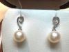 Orecchini in oro 18kt perle e diamanti