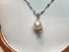 Girocollino in oro 18kt perla e diamanti