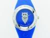 orologio blu gufo con quadrante blu