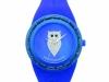 orologio gufo blu con quadrante blu