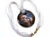 Collana in vetro di murano e argento